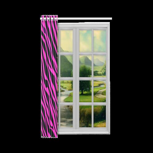 """Hot Pink Zebra Stripes New Window Curtain 52"""" x 72""""(One Piece)"""