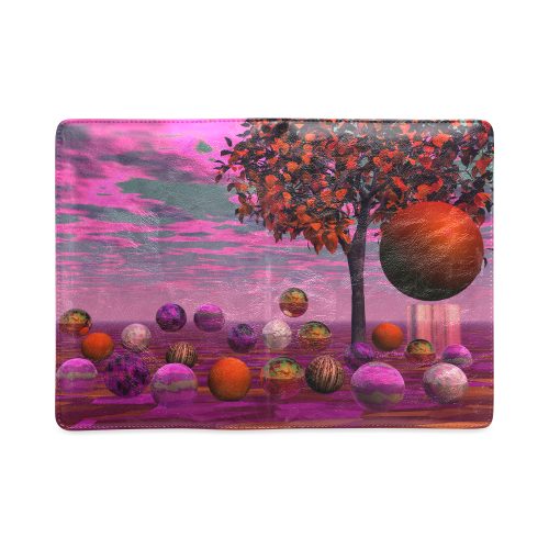 Bittersweet Opinion, Abstract Raspberry Maple Tree Custom NoteBook A5