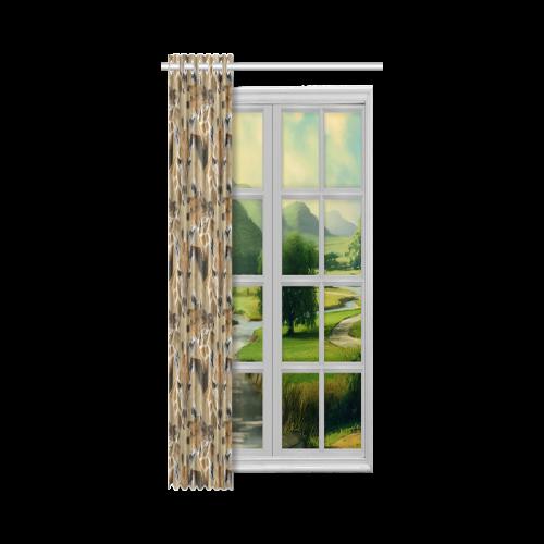 """Giraffe20160703 New Window Curtain 50"""" x 108""""(One Piece)"""