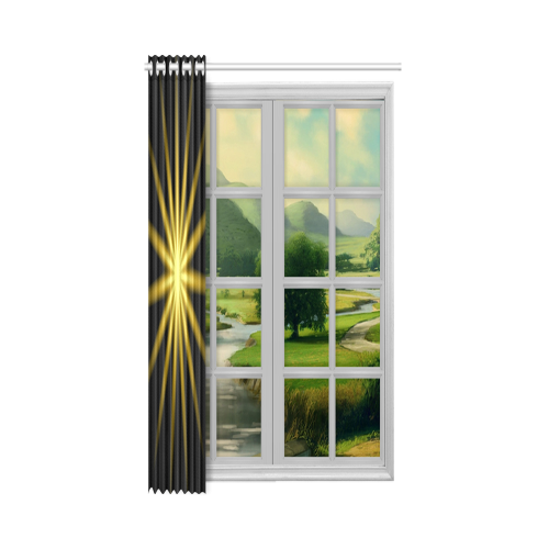 """Golden Starburst New Window Curtain 52"""" x 72""""(One Piece)"""