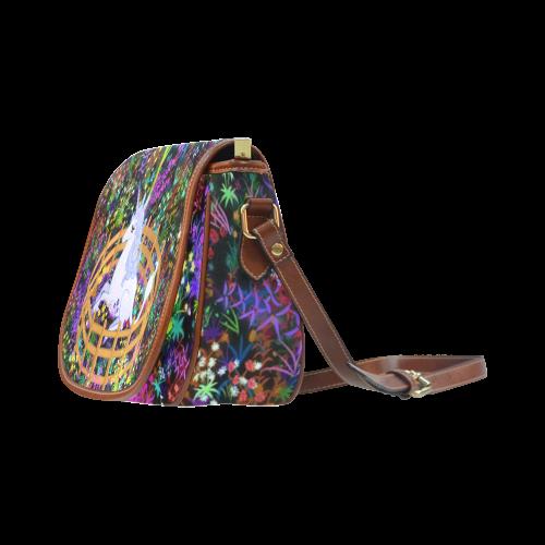 The Last Unicorn in Captivity Saddle Bag/Small (Model 1649) Full Customization