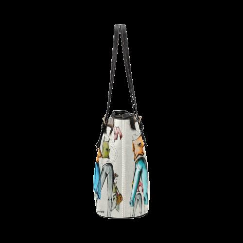 WBuddyGZ Leather Tote Bag/Large (Model 1651)
