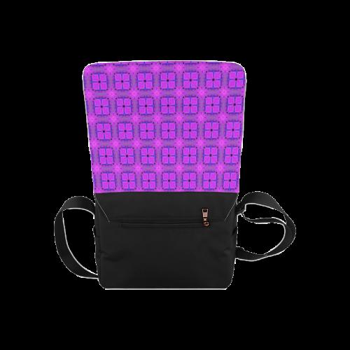 Abstract Dancing Diamonds Purple Violet Messenger Bag (Model 1628)