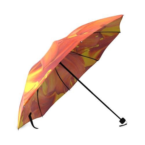 Orange Daylilies Foldable Umbrella (Model U01)