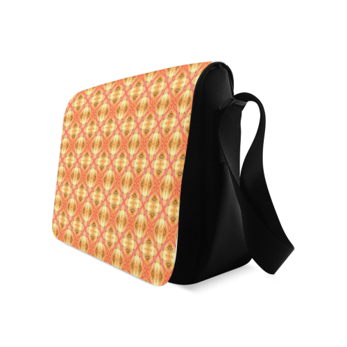 Peach Pineapple Abstract Circles Arches Messenger Bag (Model 1628)