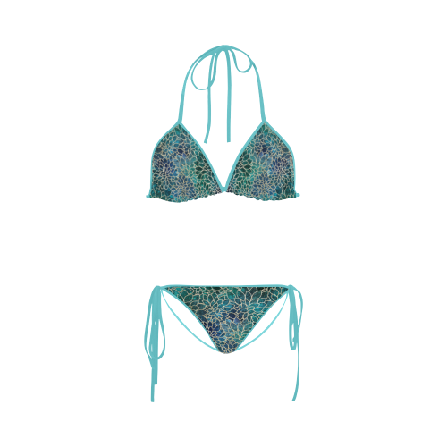 Floral Abstract 9 Custom Bikini Swimsuit