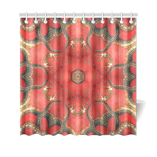 "magic mandala 8 Shower Curtain 69""x70"""