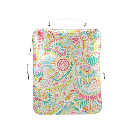 zz0101 pink hippie flower watercolor pattern Square Backpack (Model 1618)
