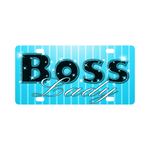 Baby Blue Boss Lady Bling! Classic License Plate