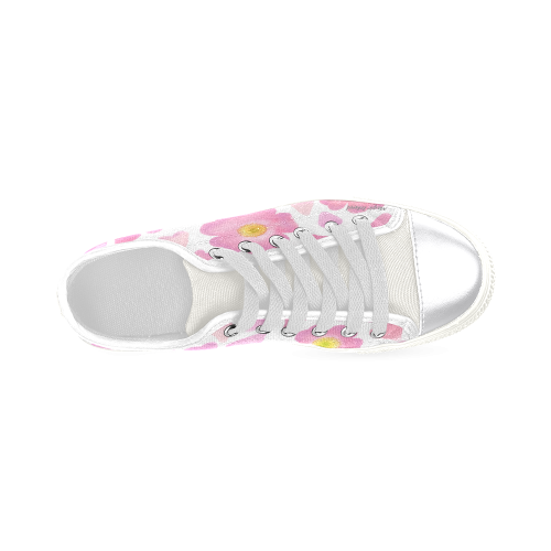 Hearts Of Wild Roses. Inspired by the Magic Island of Gotland. Women's Classic Canvas Shoes (Model 018)