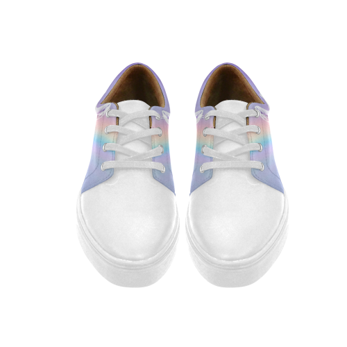 Unicorn and Rainbow Cygnus Pointed Toe Women's Shoes (Model 303)