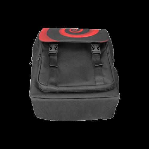 Red/Black Spiral Casual Shoulders Backpack (Model 1623)