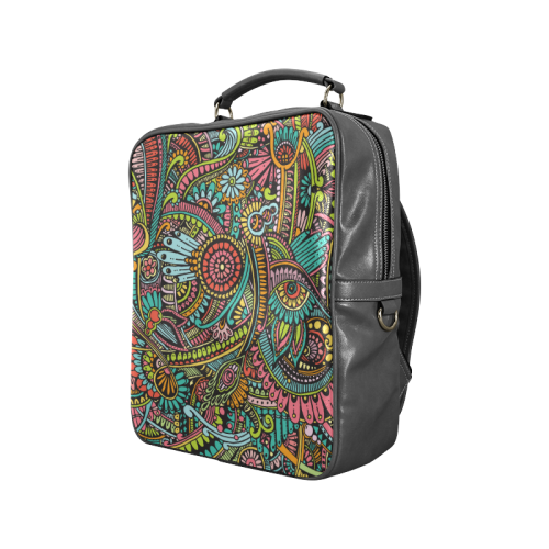 zz0103 floral hippie flower whimsical pattern Square Backpack (Model 1618)