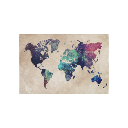 World map cotton linen wall tapestry 60x 40 id d457752 world map cotton linen wall tapestry gumiabroncs Choice Image