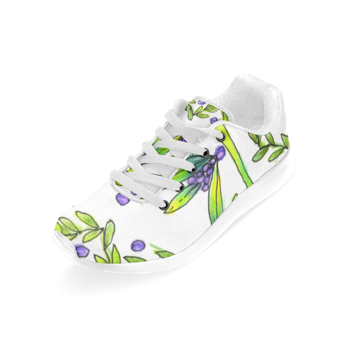 Dancing Greeen, Purple Vines, Grapes Zendoodle Women's Running Shoes (Model 020)
