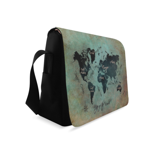 world map 10 Messenger Bag (Model 1628)