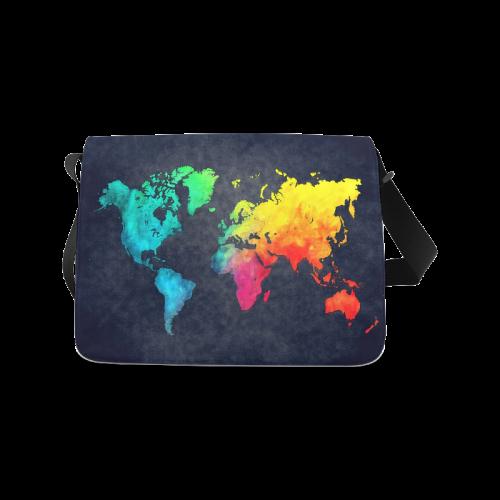 world map 8 Messenger Bag (Model 1628)