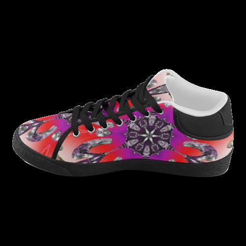 Hypnotic Geometry Women's Chukka Canvas Shoes (Model 003)