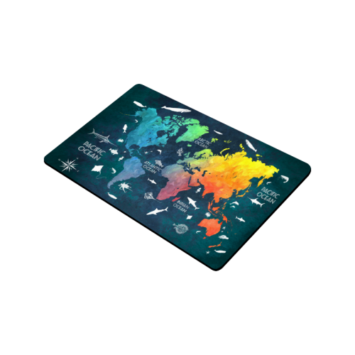 """world map Doormat 30""""x18"""""""