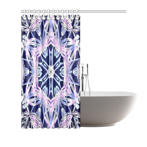 "Pleiadian Princess Shower Curtain 72""x72"""