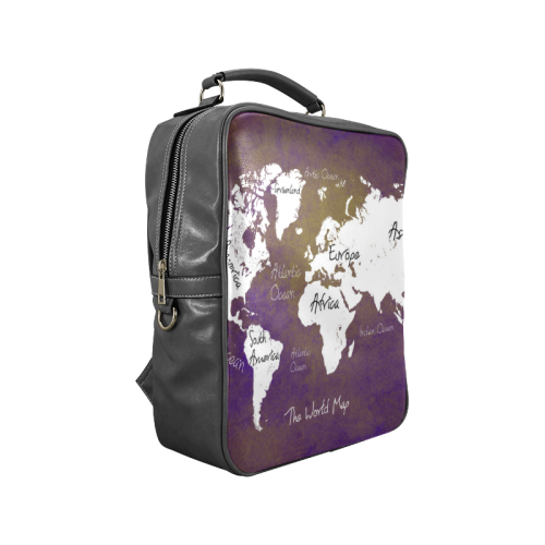 world map 1 Square Backpack (Model 1618)
