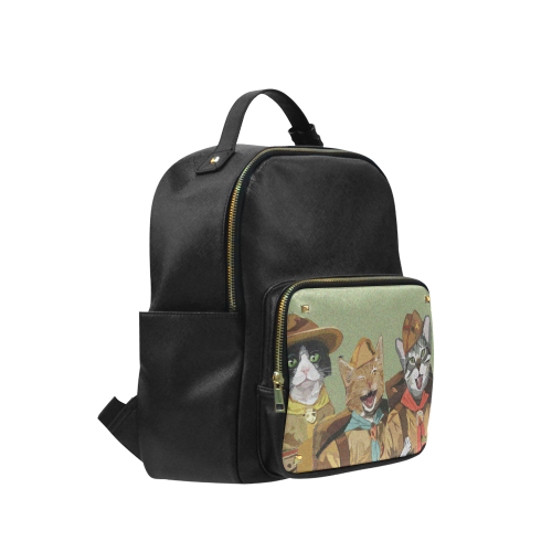 Cat Scout Cute Cat Backpack Campus backpack/Large (Model 1650)