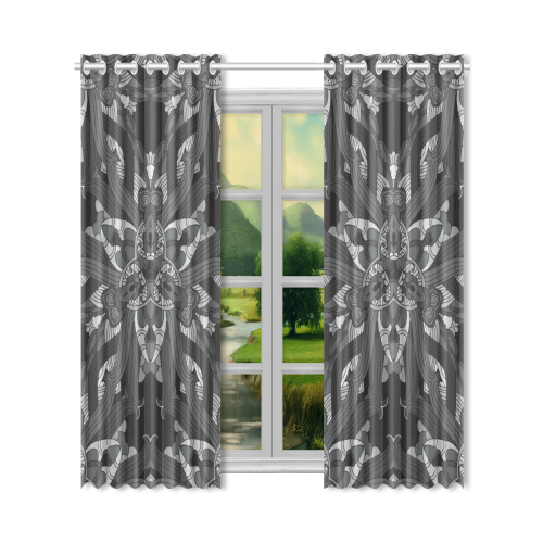 """Zandine 0206 dark vintage floral pattern New Window Curtain 50"""" x 96""""(One Piece)"""