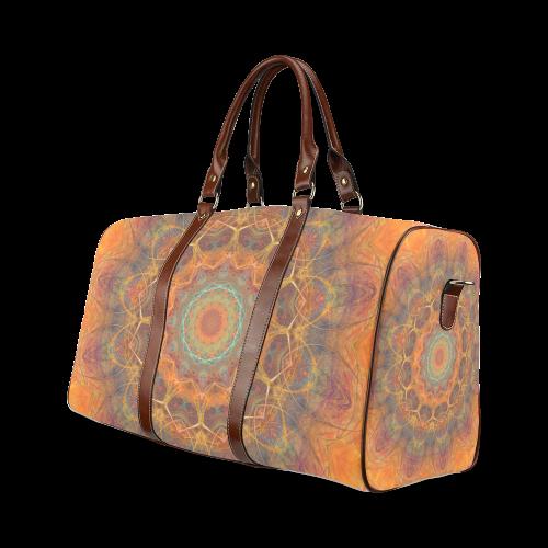 mandala Waterproof Travel Bag/Large (Model 1639)