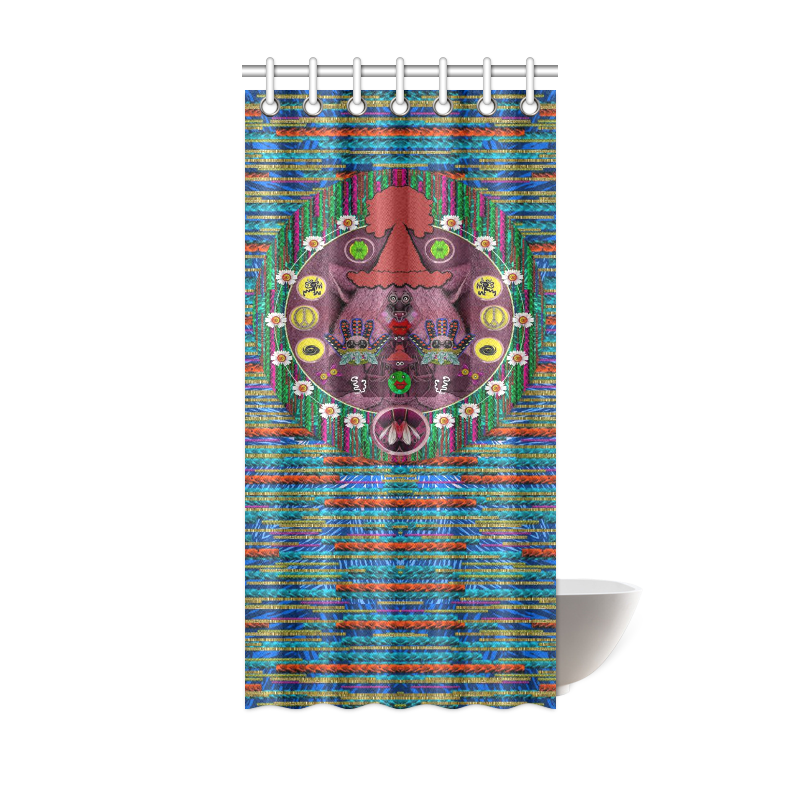 Peace In The Troll Wood Shower Curtain 36x72