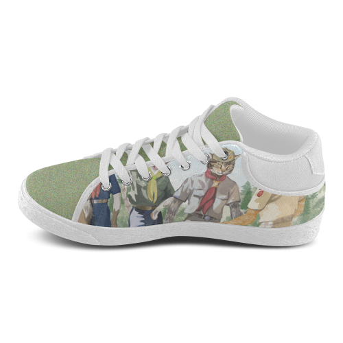 Cat Scouts Internationl Cat Chukka Shoes Women's Chukka Canvas Shoes (Model 003)