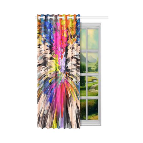 "Art of Colors by ArtDream New Window Curtain 50"" x 84""(One Piece)"
