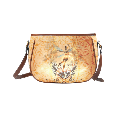 Beautiful fairy with wonderful roses Saddle Bag/Small (Model 1649) Full Customization