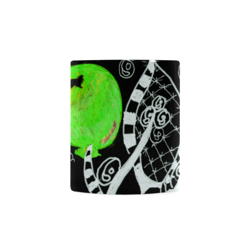 Green Balloon Zendoodle in Night Forest Garden White Mug(11OZ)