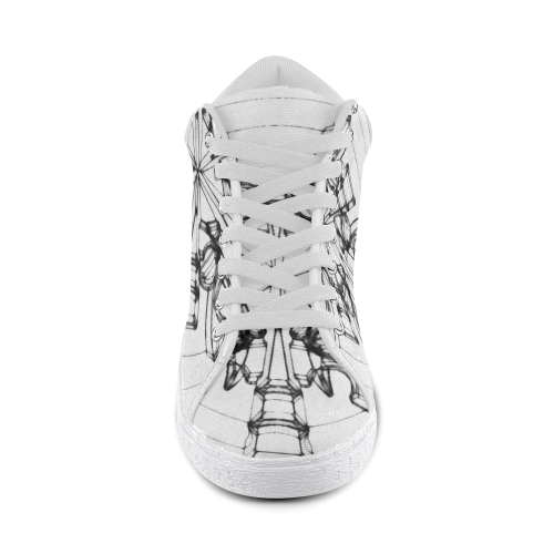 CORAL DIMENSION Men's Chukka Canvas Shoes (Model 003)