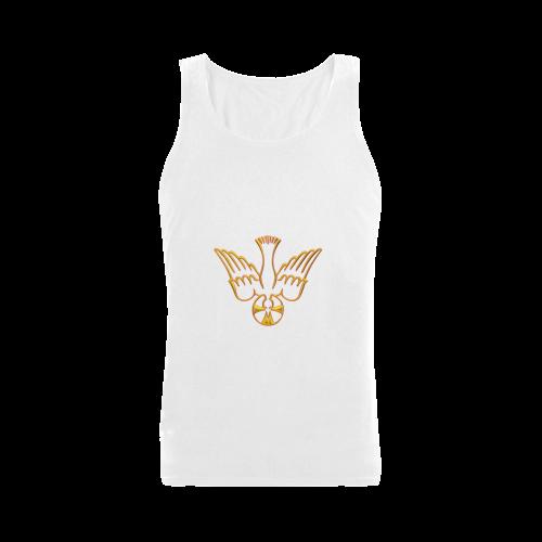 Christian Symbols Golden Holy Spirit Men's Shoulder-Free Tank Top (Model T33)