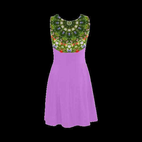 Wildflowers, Nature Flower Mandala 001 04 Atalanta Sundress (Model D04)