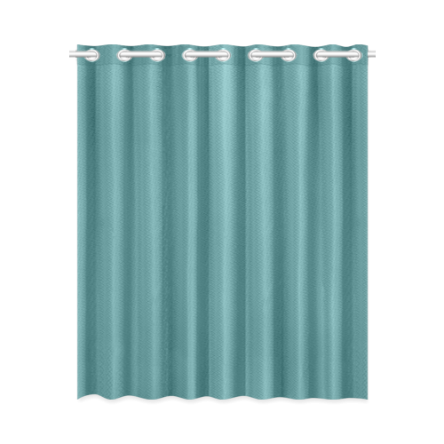 "Teal New Window Curtain 52"" x 63""(One Piece)"
