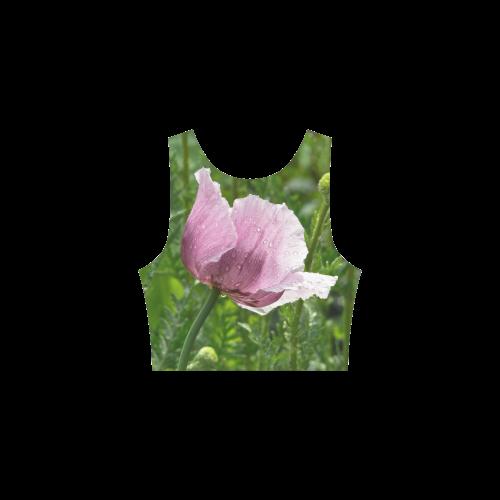 Sweet Pink Poppy with raindrops Atalanta Sundress (Model D04)