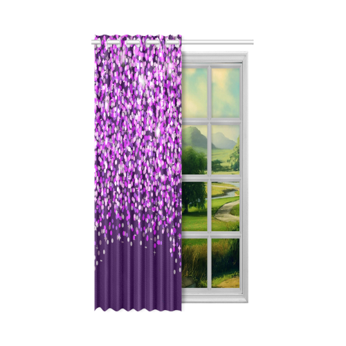 "Purple Rain New Window Curtain 52"" x 72""(One Piece)"