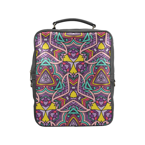 Zandine 0404 Purple Pink fun abstract pattern Square Backpack (Model 1618)