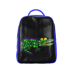 Funky Funny Alligator Abstract Art Popular Backpack (Model 1622) 82cfb639b9e44
