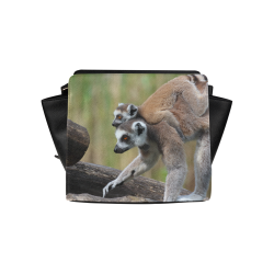cebde45066 Ring-Tailed Lemur Catta Katta Mother And Baby Satchel Bag (Model 1635)