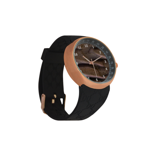 Frosted Dunes on Mars Men's Rose Gold Resin Strap Watch(Model 308)