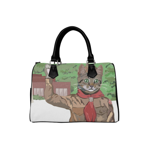 Cat Scout Salute Handbag Boston Handbag (Model 1621)