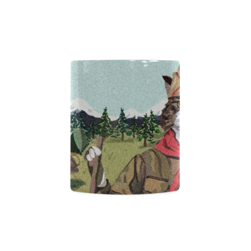 Camping Cat Scout Mug White Mug(11OZ)