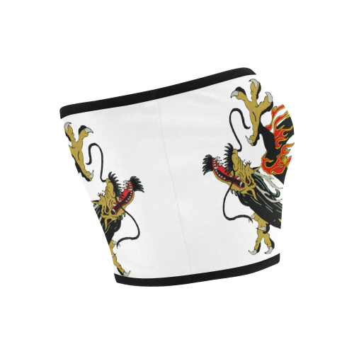 Chinese Dragon Black Bandeau Top