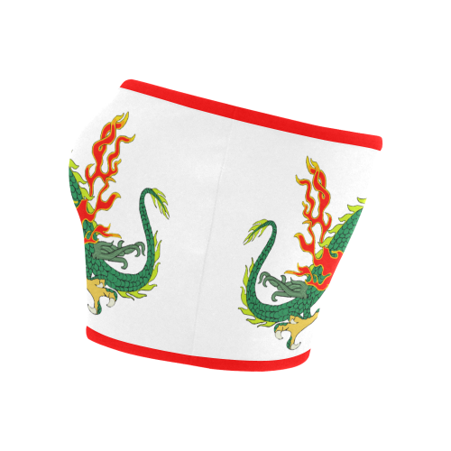 Chinese Dragon Green Bandeau Top