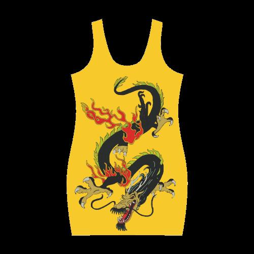 Chinese Dragon Black Medea Vest Dress (Model D06)