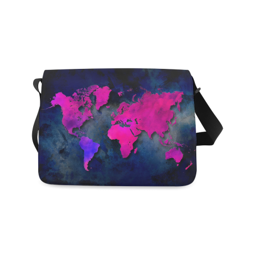 world map 14 Messenger Bag (Model 1628)
