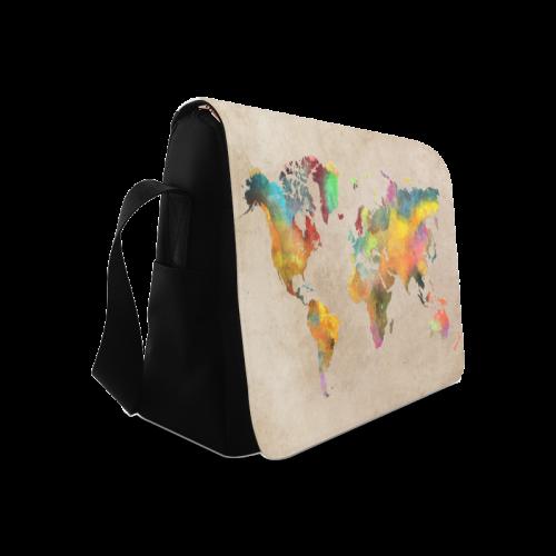 world map 17 Messenger Bag (Model 1628)
